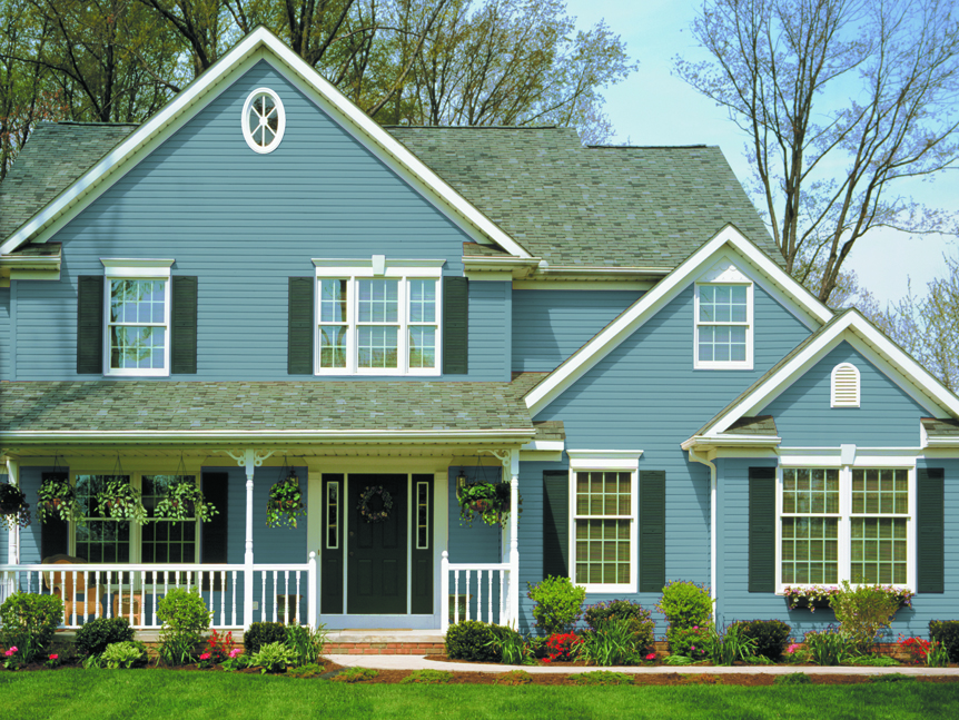 Green vinyl siding color combinations interior design ideas for Popular vinyl siding colors