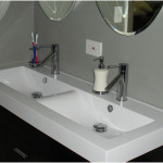 Beautiful Small Trough Vintage Sink With Chrome Metris 150x150 Observing The Vintage Sink Designs Option