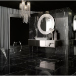 Black And White Bathrooms Design with Black Tile 150x150 Black And White Bathrooms Options