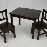 Childrens Wooden Desk and Chair Set Ideas 150x150 Wooden Desk Chair in Glossy Black Designs