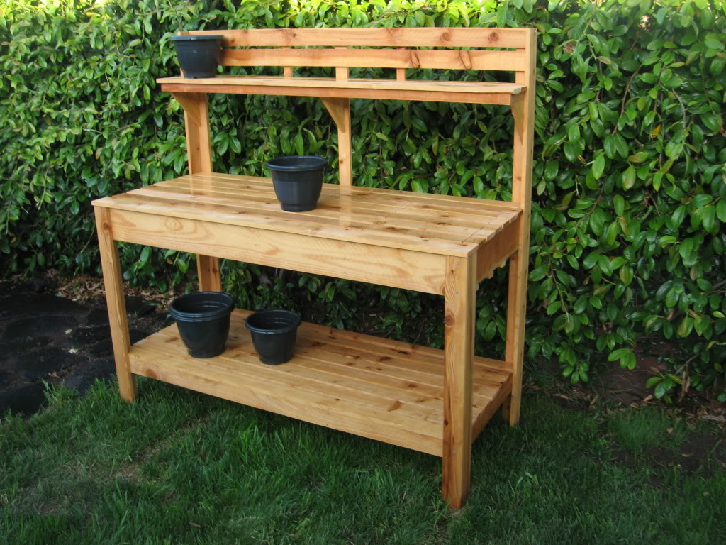Plans a garden work bench plans diy free download how to for Garden potting bench designs