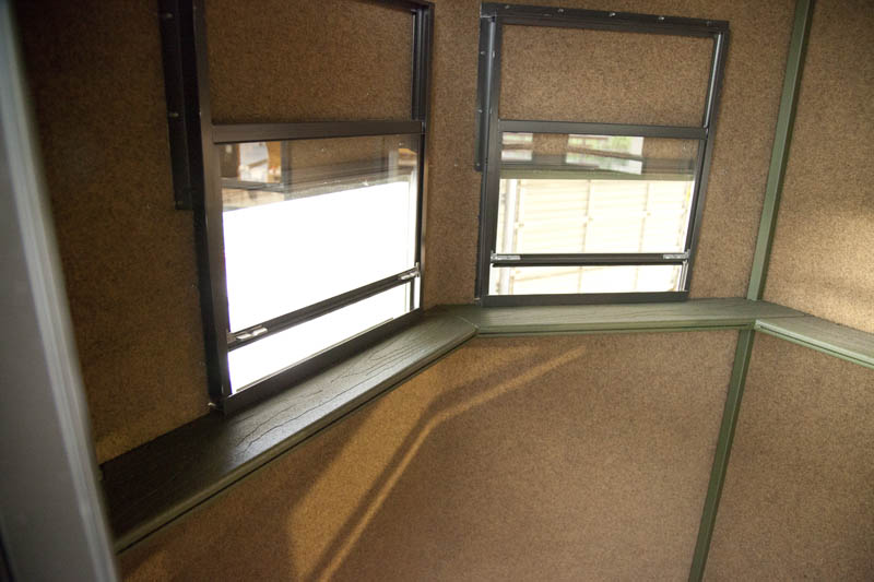 deer blind windows ideas