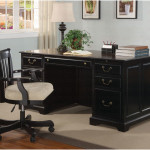 Modern Black Wooden Desk Chair Ideas 150x150 Wooden Desk Chair in Glossy Black Designs