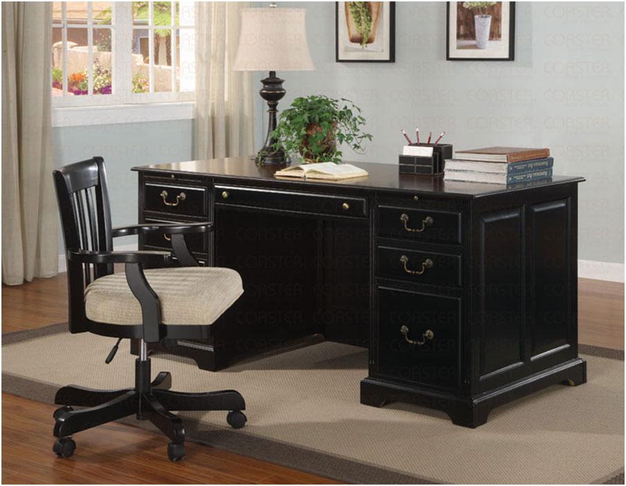 Modern black wooden desk chair ideas interior design ideas for Wooden office chair design