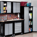 Resplendent Metal Cabinets for Garage 150x150 Get The Durable Metal Garage Storage Cabinets