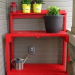 Simple DIY Garden Potting work Bench Plans