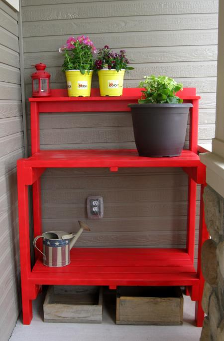 Simple DIY Garden Potting work Bench Plans