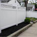 Split Lattice Rails With PVC