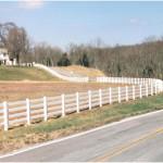 Split Rails Fence With Vinyl PVC