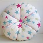 Star Round Cotton Buttoned Velvet Cushion