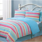 Twin Geo Stripes Multi Reversible Girls Twin Bedding Sets