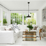 White Modern Farmhouse Living Room Design