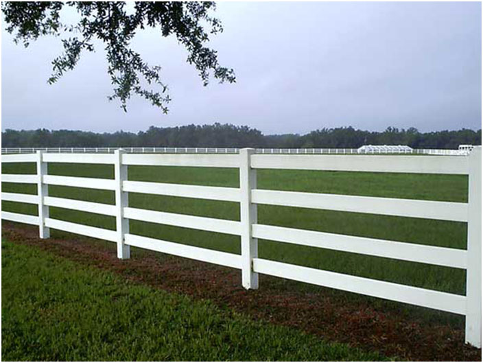 White Split Rail Fence with PVC How to Make Split Rails with PVC