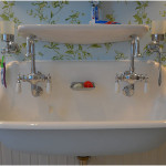 White Vintage Trough Sink Designs Option
