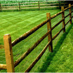 Wood Split Rail Fencing with PVC