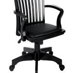 Wooden Desk Chair for Office in Glossy Black 150x150 Wooden Desk Chair in Glossy Black Designs