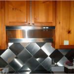 Artistic Tile Stainless Steel Backsplash Design 150x150 Perfect example of Stainless Steel Backsplashes Decoration
