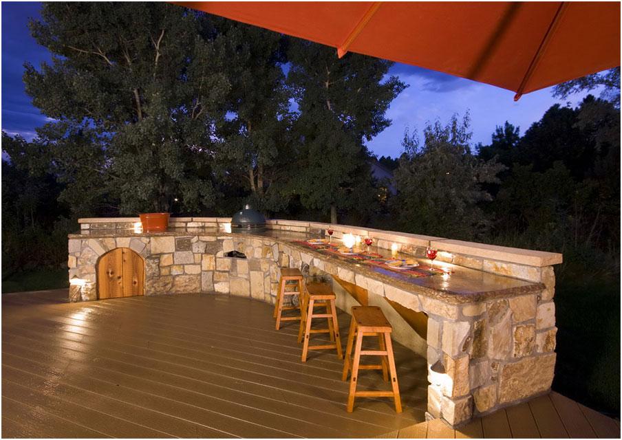 Beautifbeautiful Wooden Deck Designs Outdoor Kitchen Interior Design Ideas