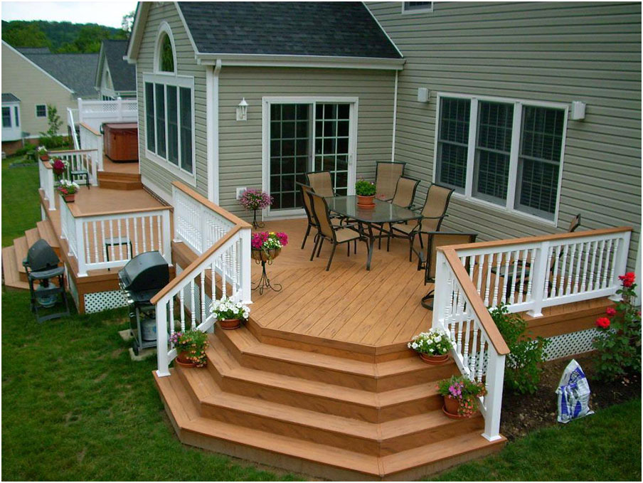 Back yard wood patio deck ideas 2017 2018 best cars for Beautiful veranda designs