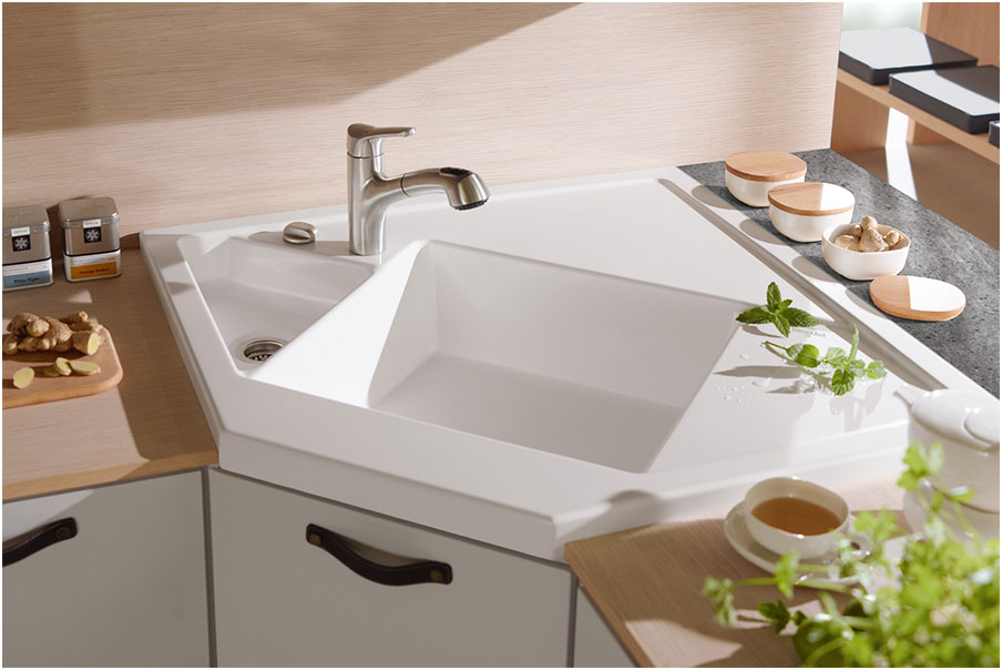 Corner Granite Kitchen Sink Ideas Choosing The Best Corner Kitchen Sink