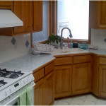 Corner Kitchen Sink Ideas with wood cabinet 150x150 Choosing The Best Corner Kitchen Sink