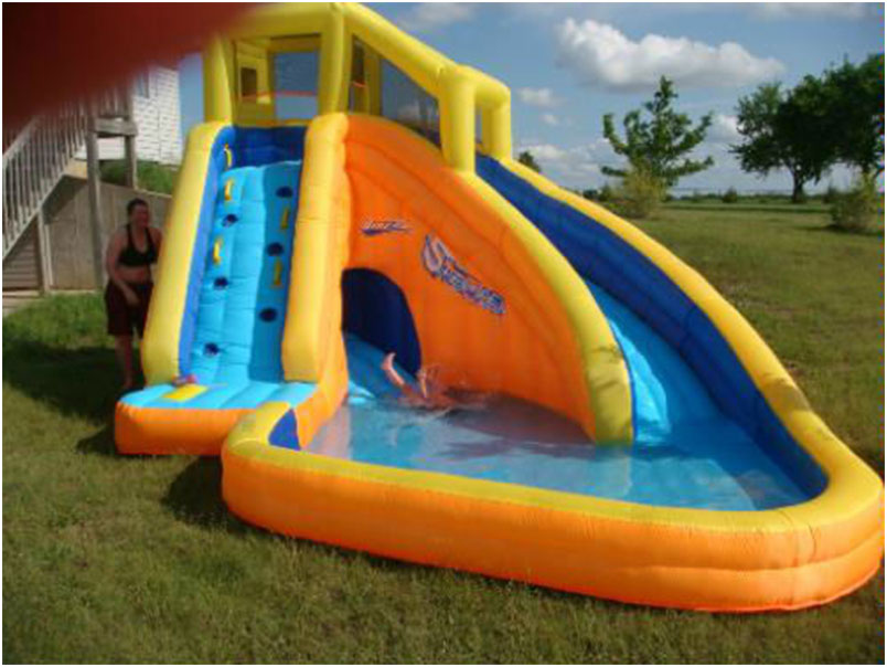 funny backyard inflatable water slide for kids interior design ideas