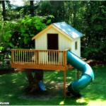 Funny Tree House in Backyard 150x150 How To Make Funny Backyard