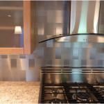 Modern Stainless Steel Backsplash Decor 150x150 Perfect example of Stainless Steel Backsplashes Decoration