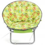 Saucer chair provides comfy kid size seating