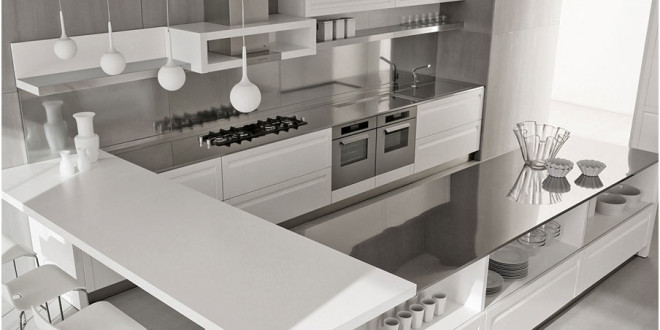 Perfect example of Stainless Steel Backsplashes Decoration