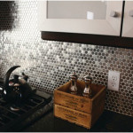 Stainless Steel Circles Backsplash Design 150x150 Perfect example of Stainless Steel Backsplashes Decoration