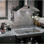 Stainless Steel mosaic tile Backsplash ideas