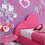 Teenage Girl Bedroom Decoration With Pink Bedroom Colors Idea