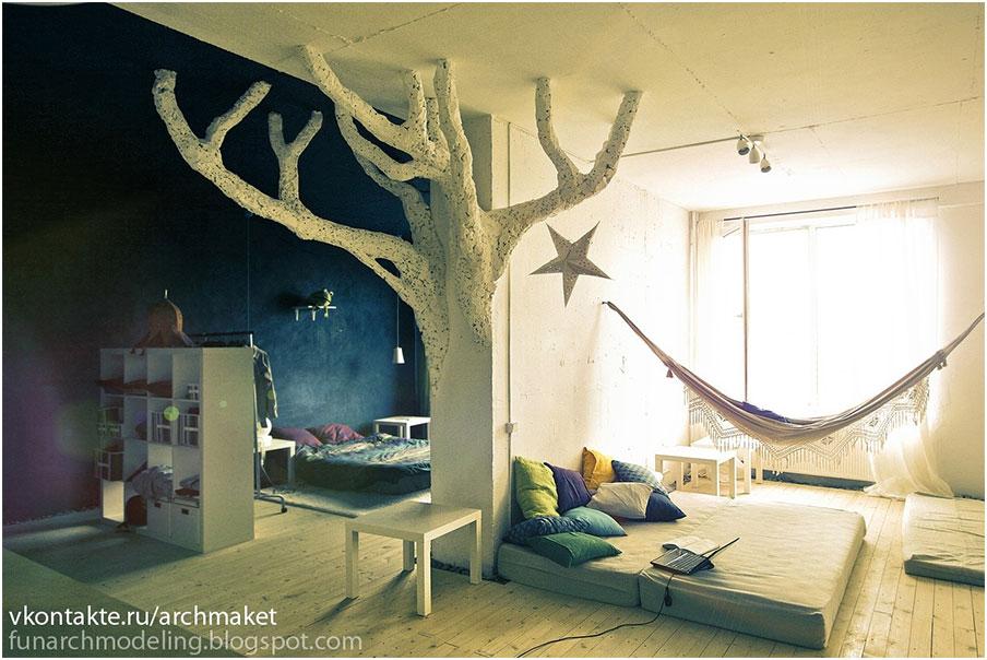 Дерево из пены монтажной