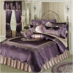 Vintage Luxury Comforter Set Dusty Purple