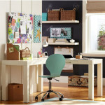 White Desk Stunning Study Space Inspiration For Teens