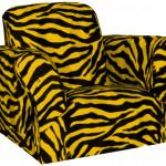 Yellow Zebra Saucer Chair Design Ideas