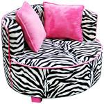 Zebra Saucer Chair Design for Teens