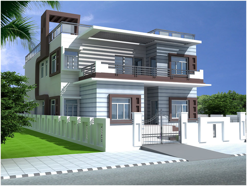 Duplex exterior makeover project ideas interior design ideas for Duplex house designs interior