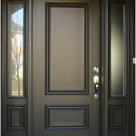 Minimalist Wood Front Doors Design 150x150 Wooden Front Doors Ideas