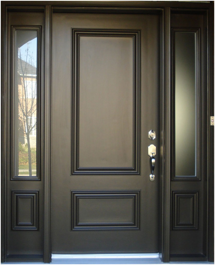 Minimalist Wood Front Doors Design