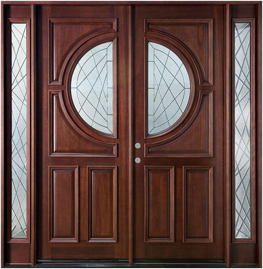 Modern wooden double front doors design interior design for Door wood design modern