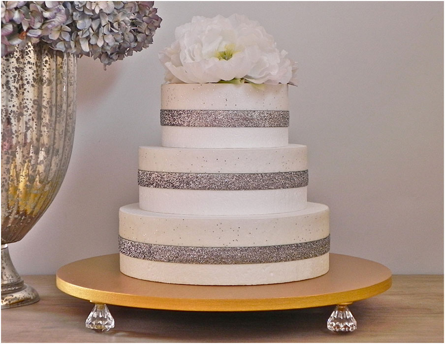 wonderful wedding cake stand bling gold metallic interior design