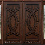 Wood Front Double Doors With Sidelights 150x150 Wooden Front Doors Ideas