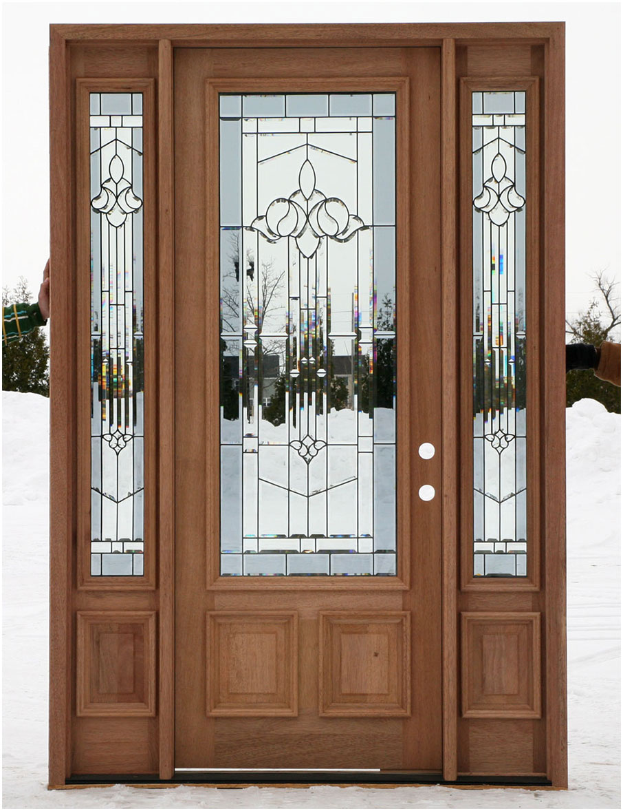 Wooden Front Doors With Sidelights Interior Design Ideas