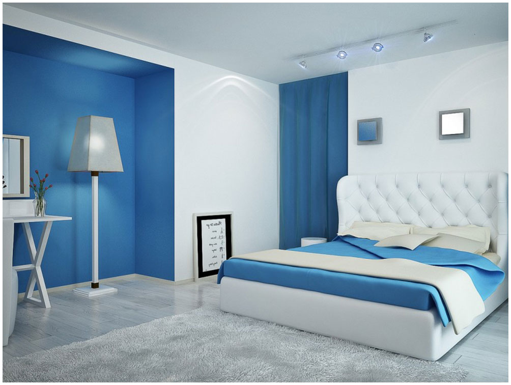 Blue white bedroom paint color ideas interior design ideas - Blue interior paint ideas ...