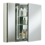 Double Door Aluminum Bathroom Storage Cabinet