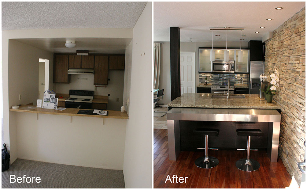 Modern kitchen makeover ideas before and after interior for Kitchen remodel before after