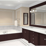 Perfect Master Bathroom With Porcelain Sink 150x150 A Perfect Bathroom To Help You Relieve Your Stress