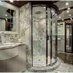 Perfect Modern Master Bathroom Circle Bathroom Shower 150x150 A Perfect Bathroom To Help You Relieve Your Stress